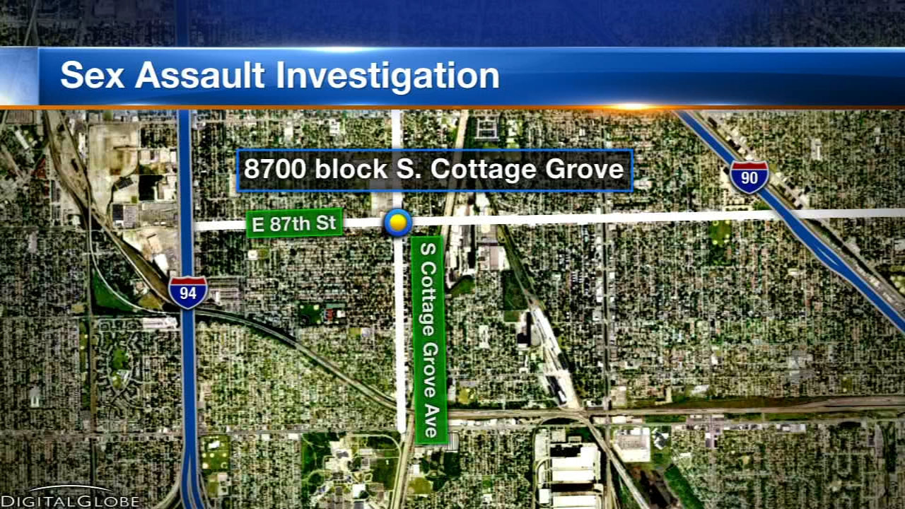 A woman walking south in the 8700-block of South Cottage Grove Avenue around 3:30 a.m. was grabbed from behind.