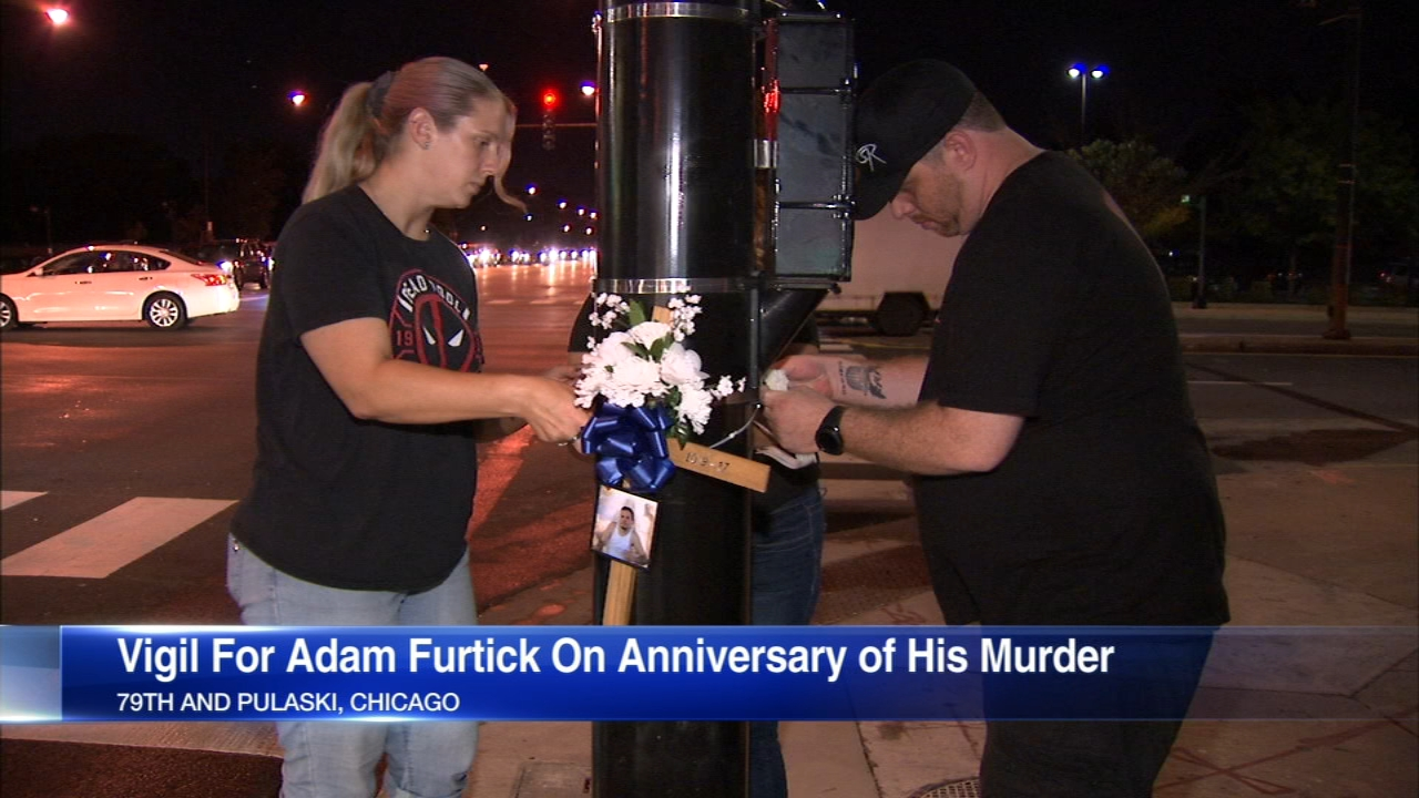 Adam Furtick, 34, a father of three, was murdered near 79th and Pulaski while driving home in October 2017.
