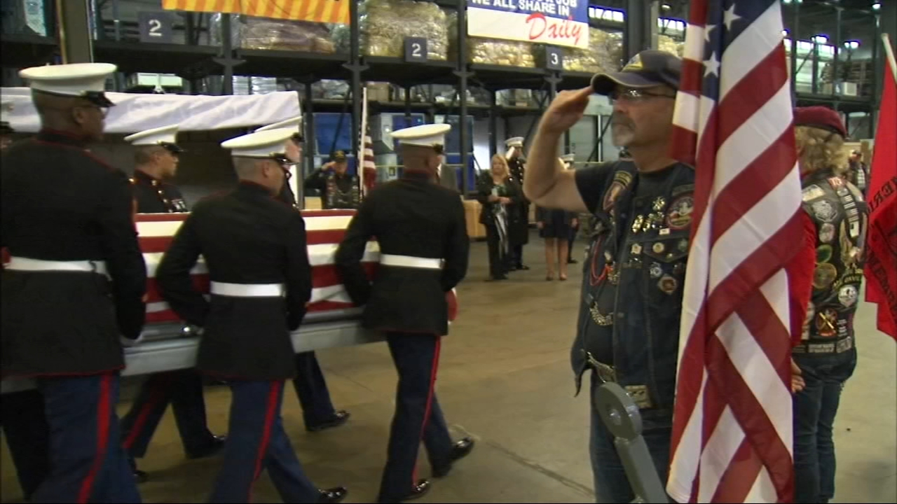 A U.S. Marine from Brookfield finally returned home Wednesday - 75 years after he shipped off to fight in the Pacific Ocean theater of World War II.