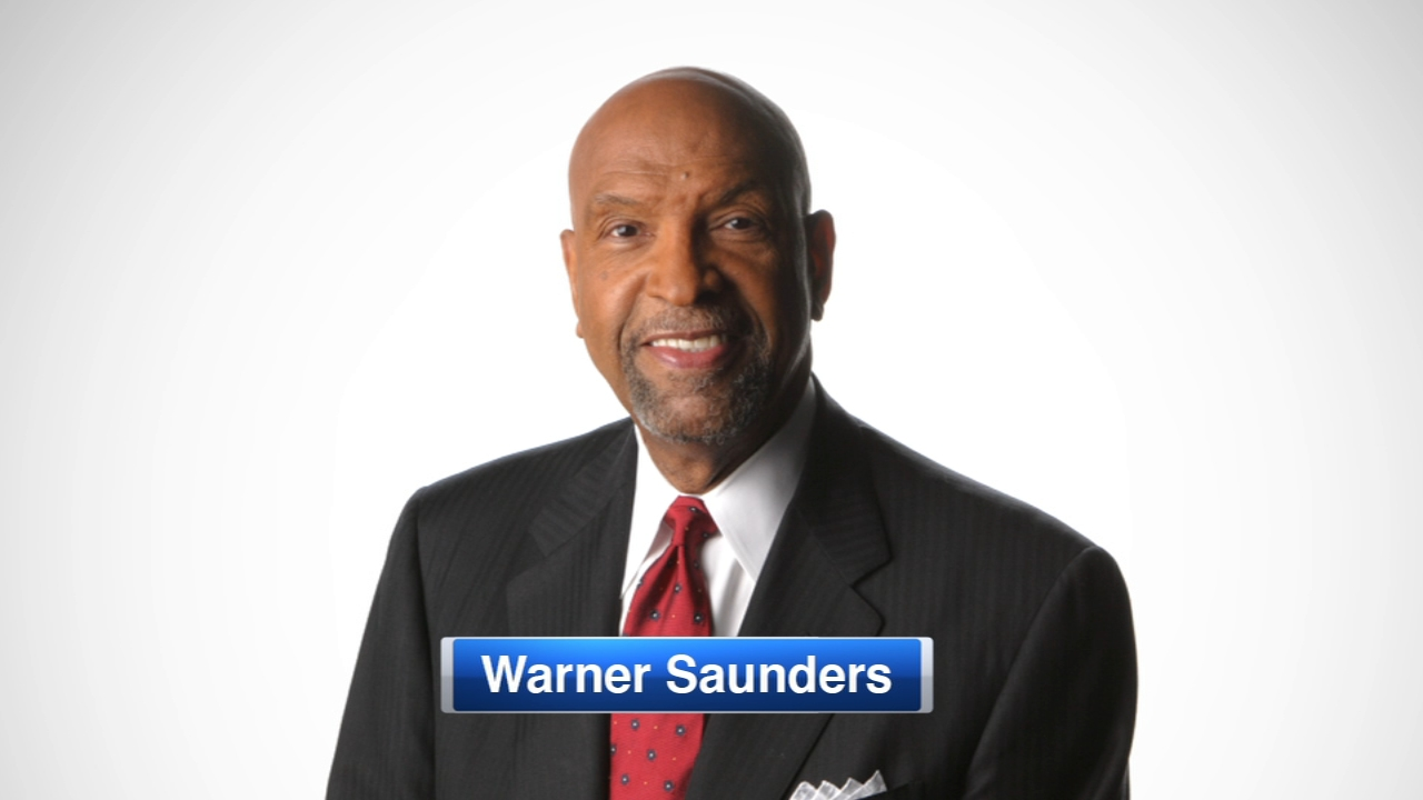 Warner Saunders was on television in Chicago for 40 years before signing off from NBC5 in 2009.
