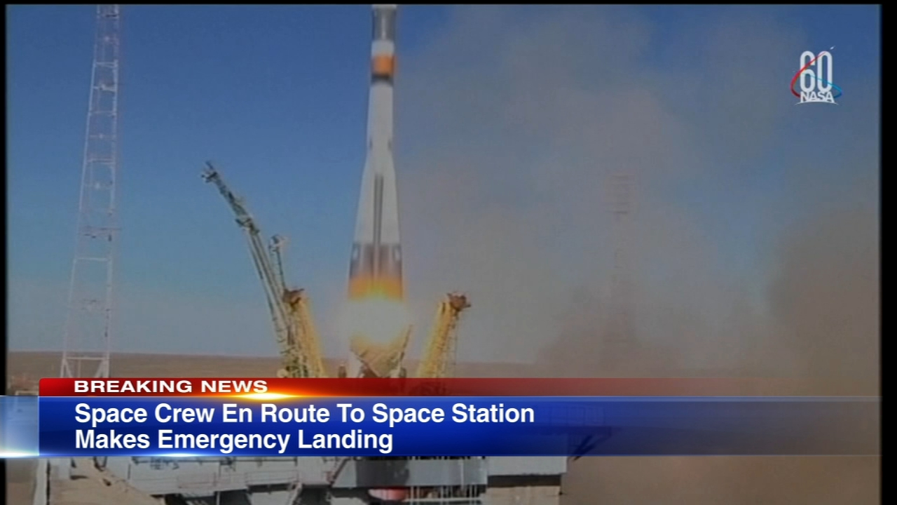 A pair of astronauts headed to the Space Station early Thursday morning had to make an emergency landing back on Earth.