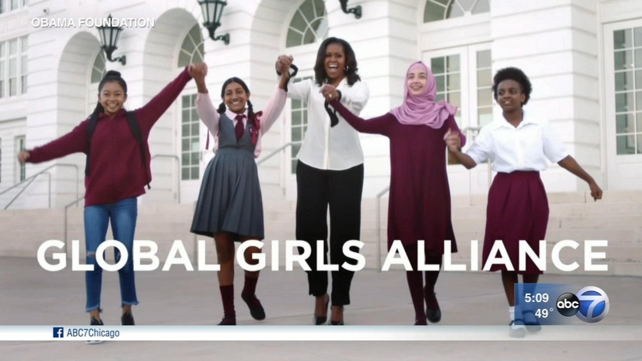 Former First Lady Michelle Obama announced the launch of Global Girls Alliance, a new Obama Foundation program to support the education of adolescent girls around the world.