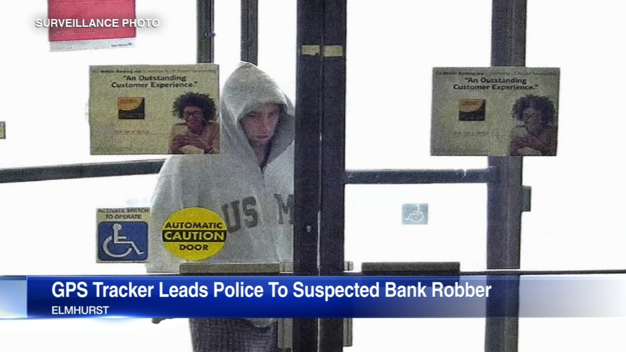 A bank robber was arrested last Saturday after authorities tracked him across Chicagoland by a thin GPS location tracker hidden within the stolen bills he was carrying.