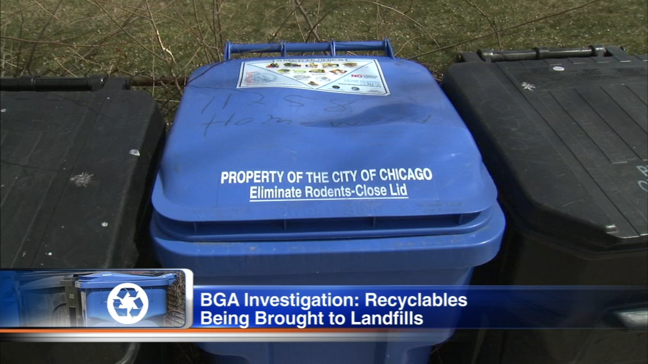 The Better Government Association reports that not all recycling gets recycled.