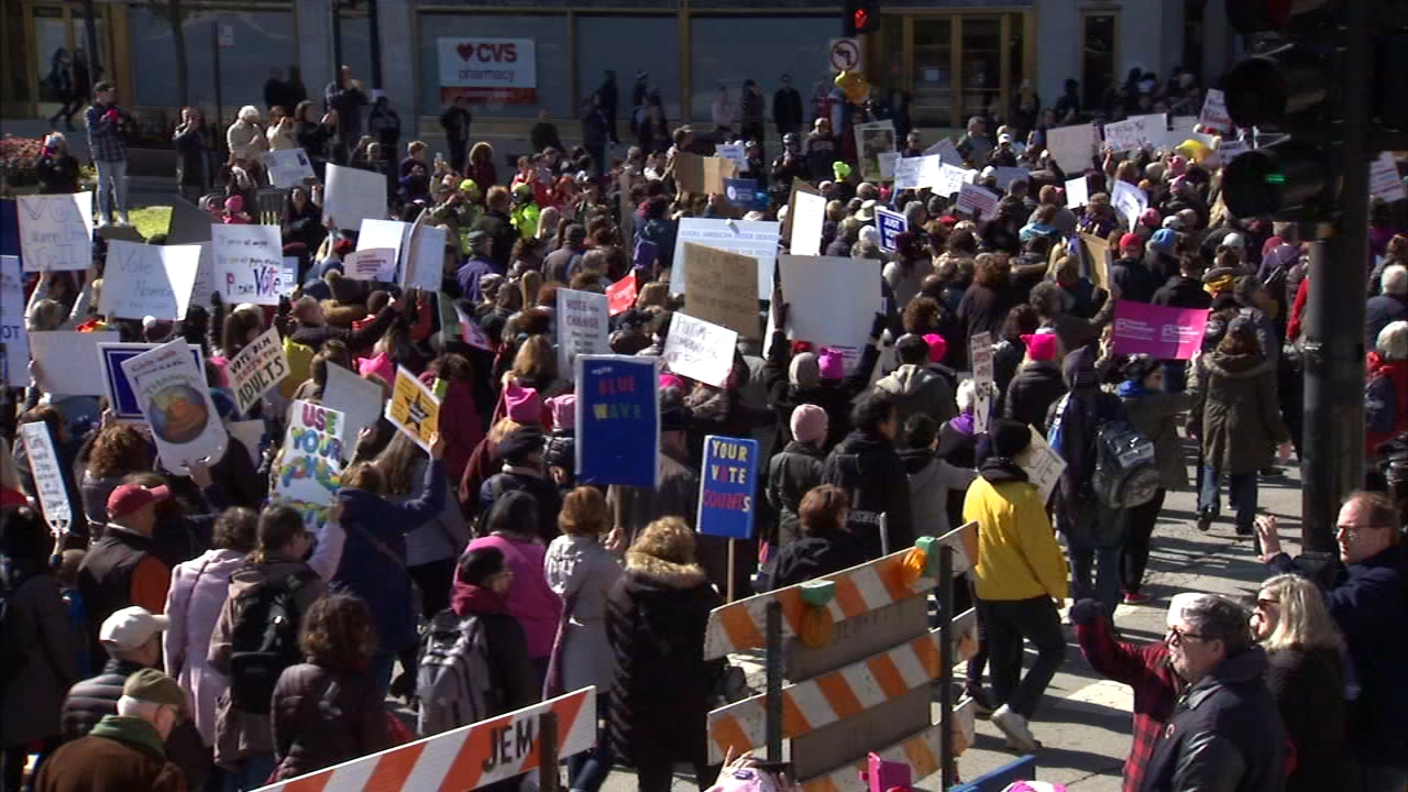 Just a few weeks ahead of the midterm elections, the March to the Polls event sough to encourage women and young people to vote.