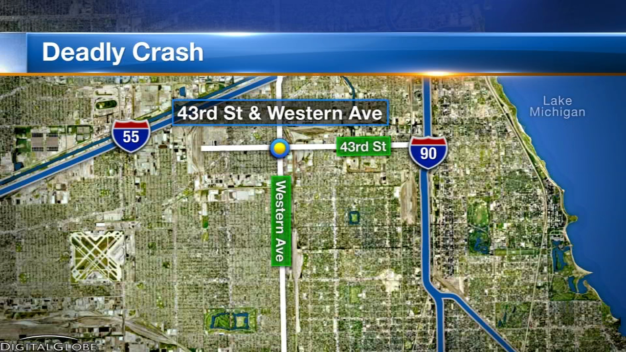 A 5-year-old girl was killed and seven other people, including five children, were injured in a two-vehicle crash Sunday morning on the Southwest Side, police said.