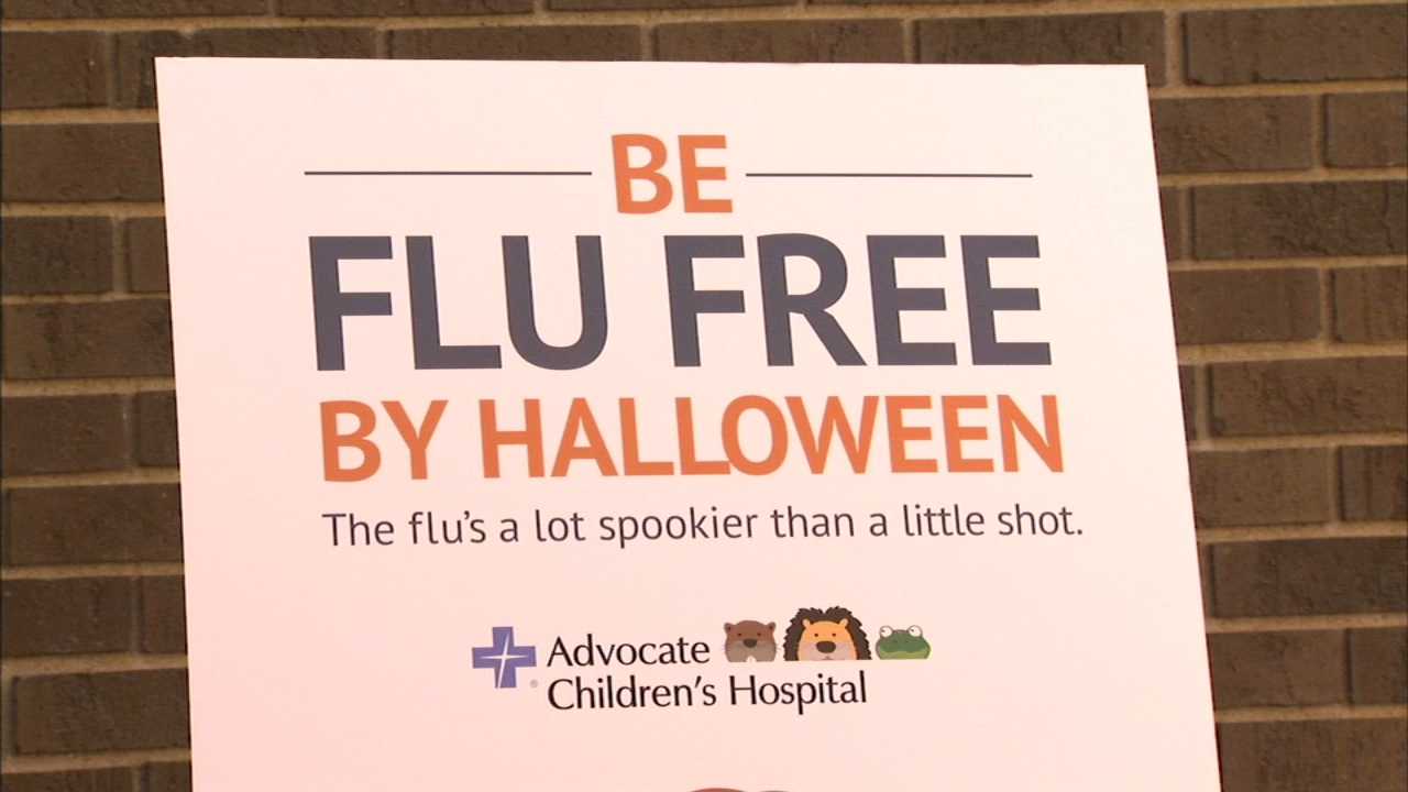 Chicago pediatric doctors warned Monday that everyone over 6 months should get the flu shot before Halloween.