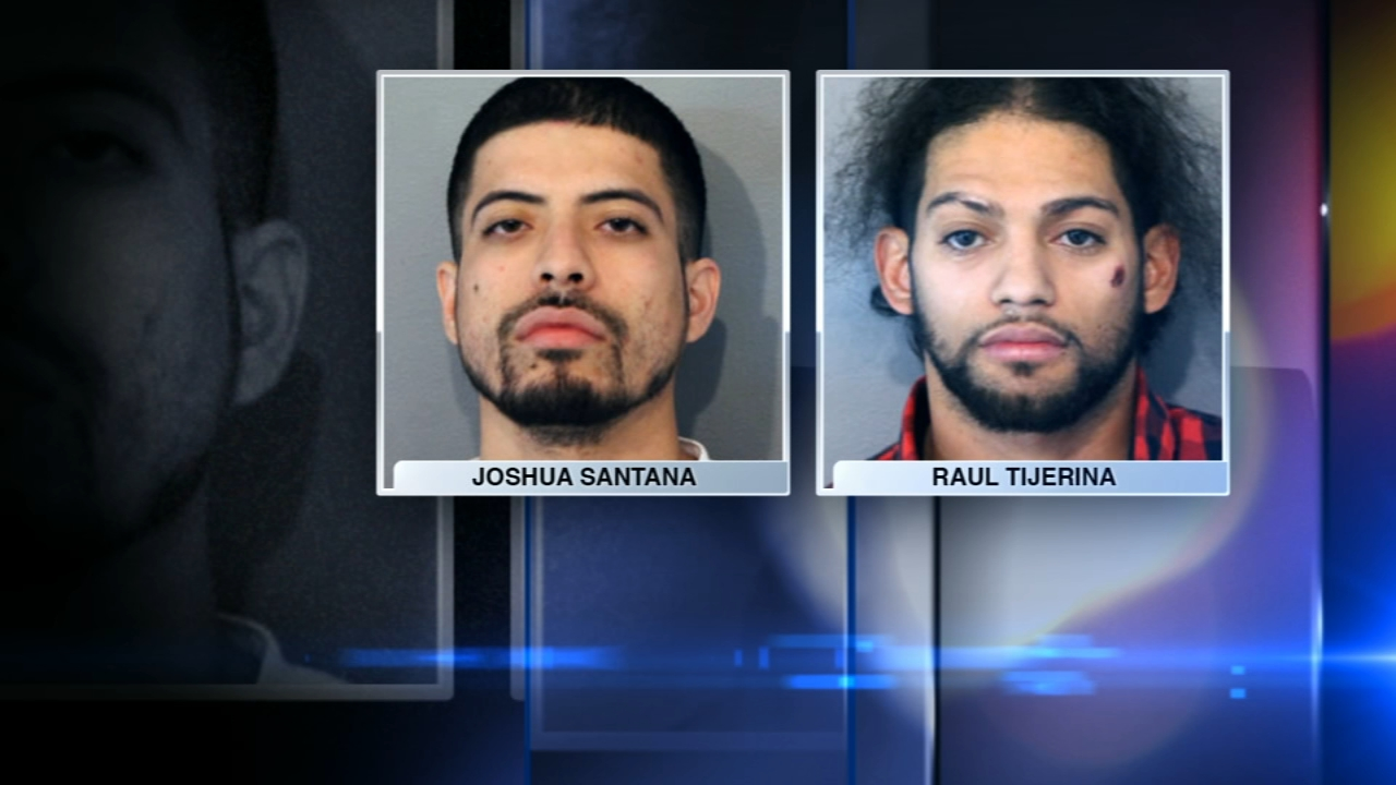 Two men have been charged in an armed robbery at a River North Restaurant Sunday morning.