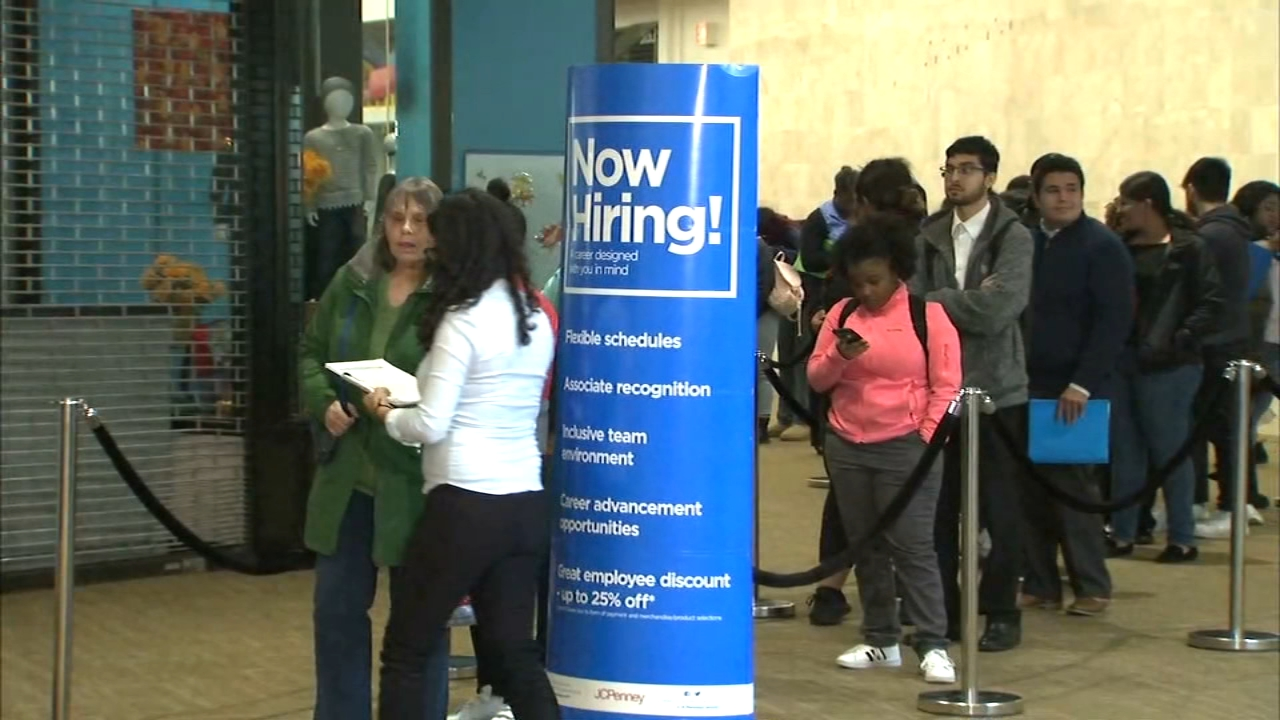 About 100 people were offered jobs to work the holiday season at the JC Penney.