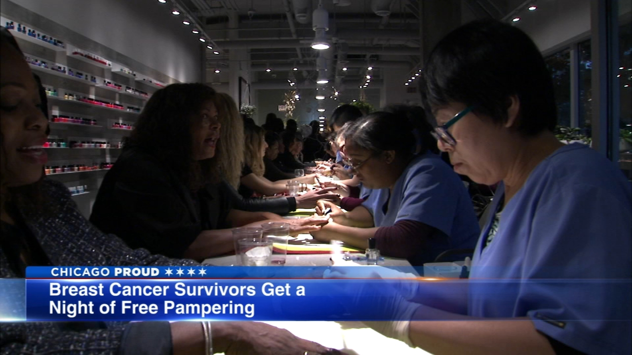 Hundreds of breast cancer survivors got together for some self-care Thursday evening.