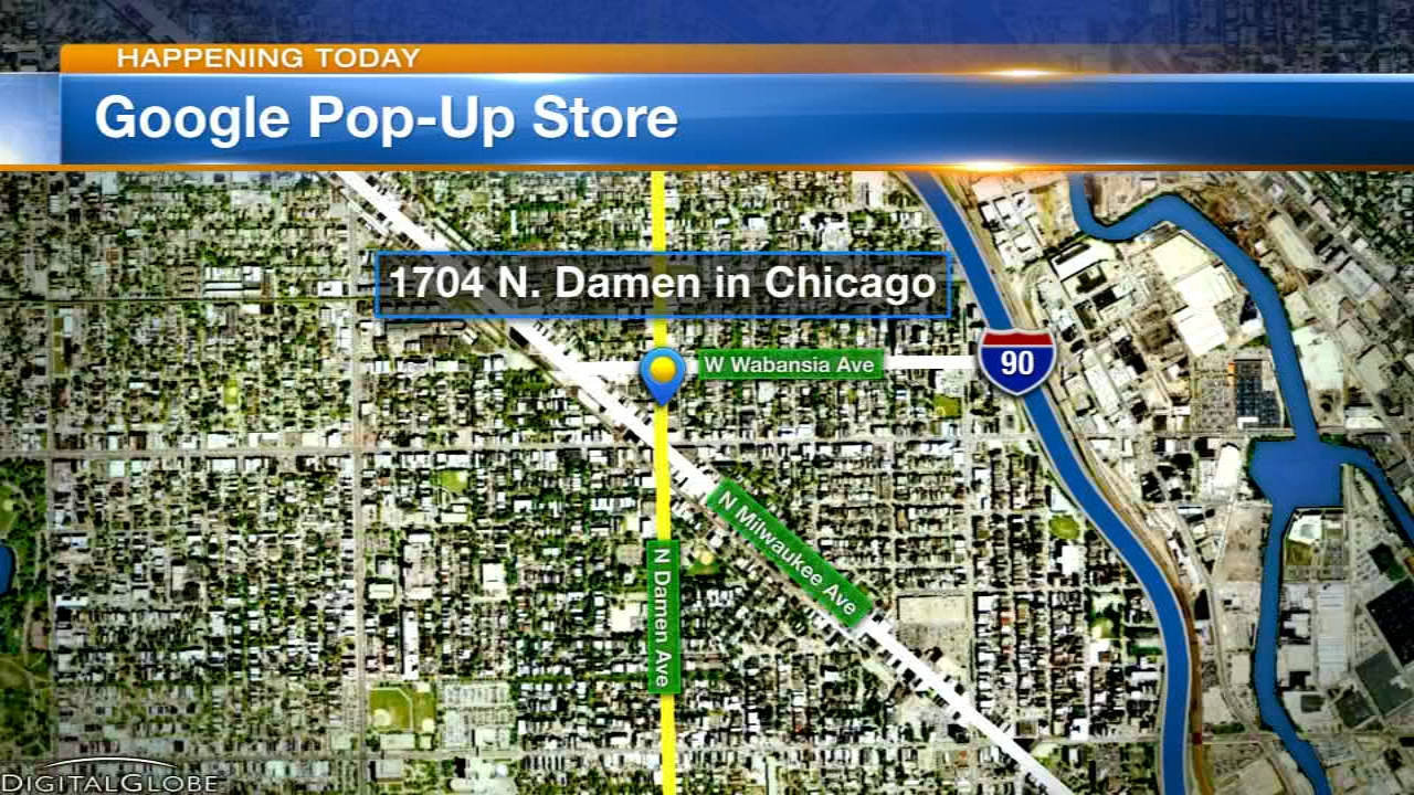 Google opens its very first Chicago Hardware Store popup pop Thursday.
