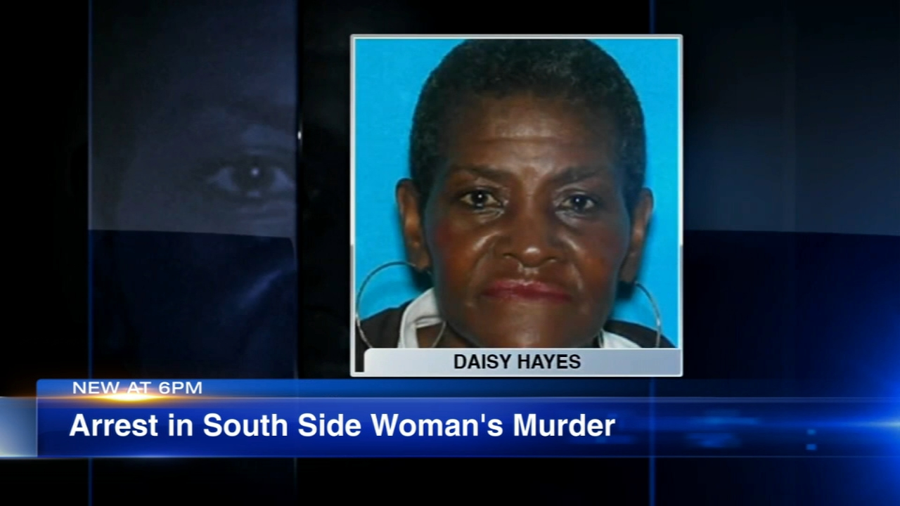 Chicago police say a man has been arrested in the murder of a 65-year-old woman missing from Woodlawn for nearly six months.