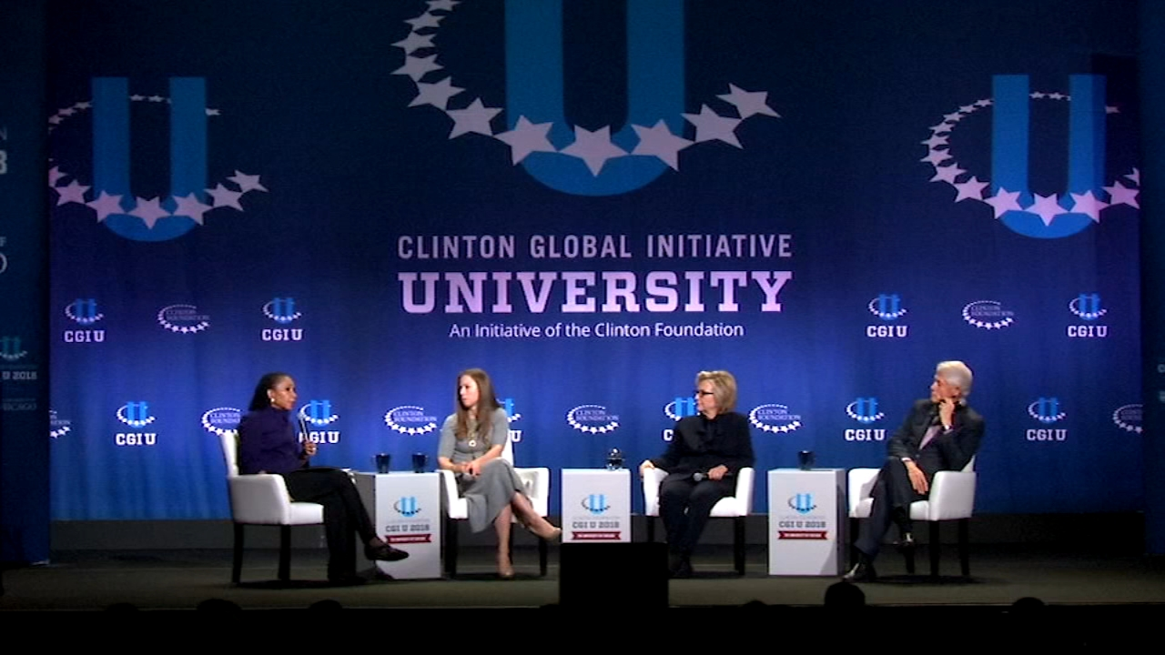 Bill Clinton, HIllary Clinton and Chelsea Clinton spoke at the University of Chicago for this weekends Clinton Global Initiative University (CGIU).