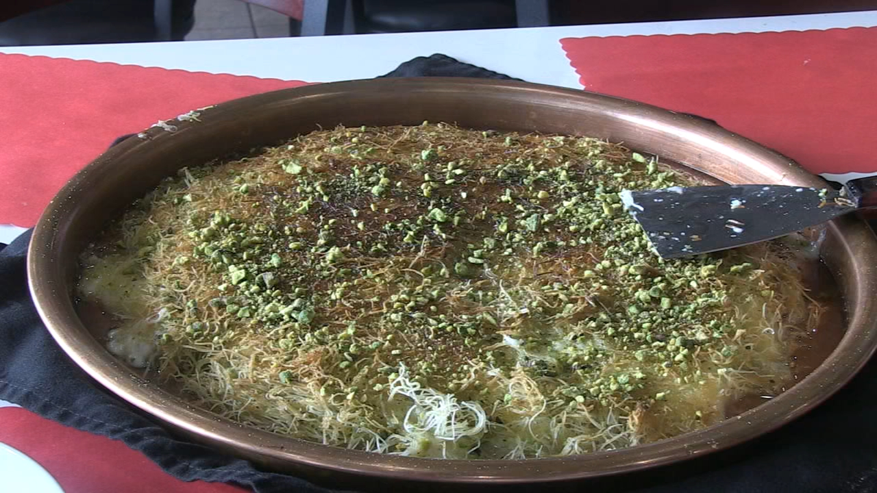 Hungry Hound: One of Al Sufara Grills signature desserts - knafeh