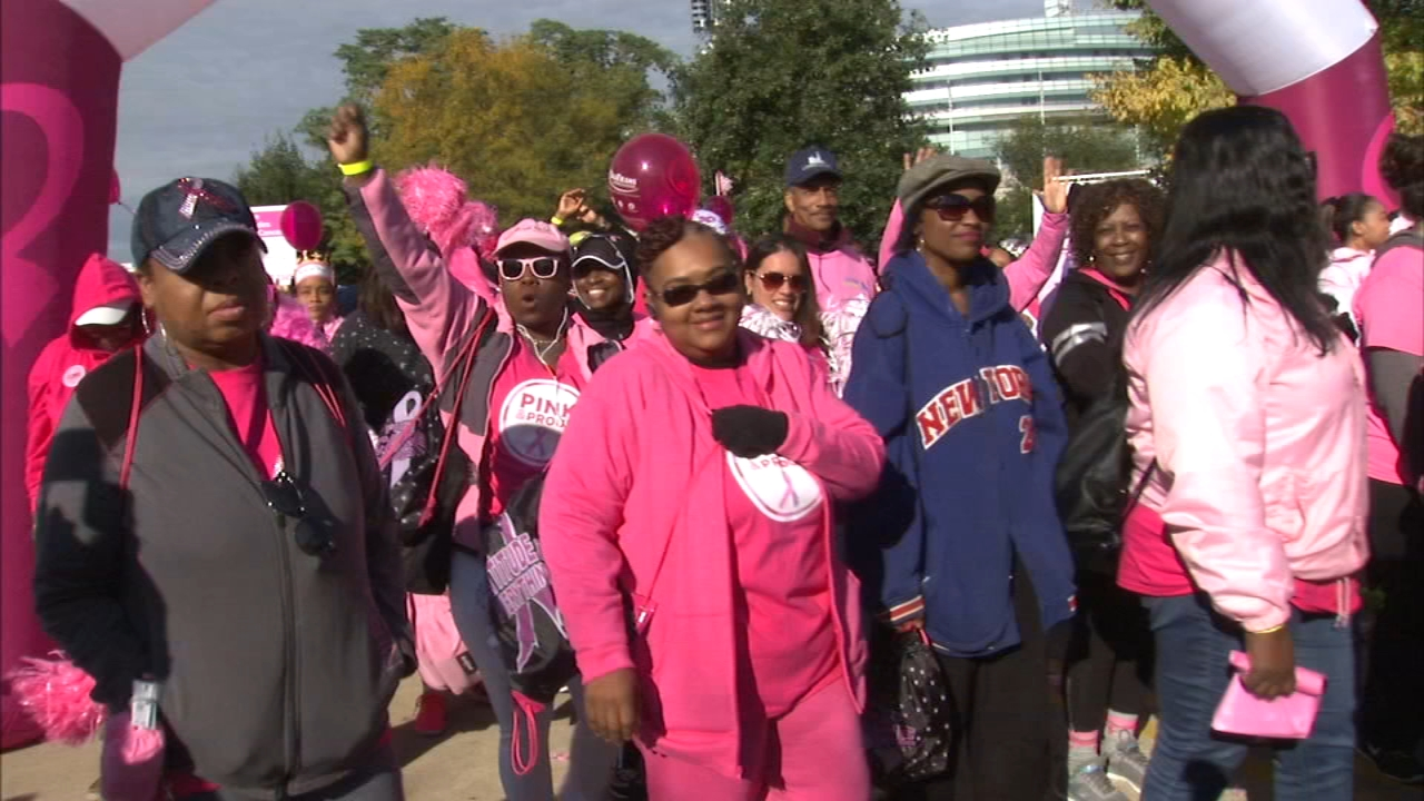 Thousands of people gathered for the Annual Making Strides Against Breast Cancer event at Soldier Field.