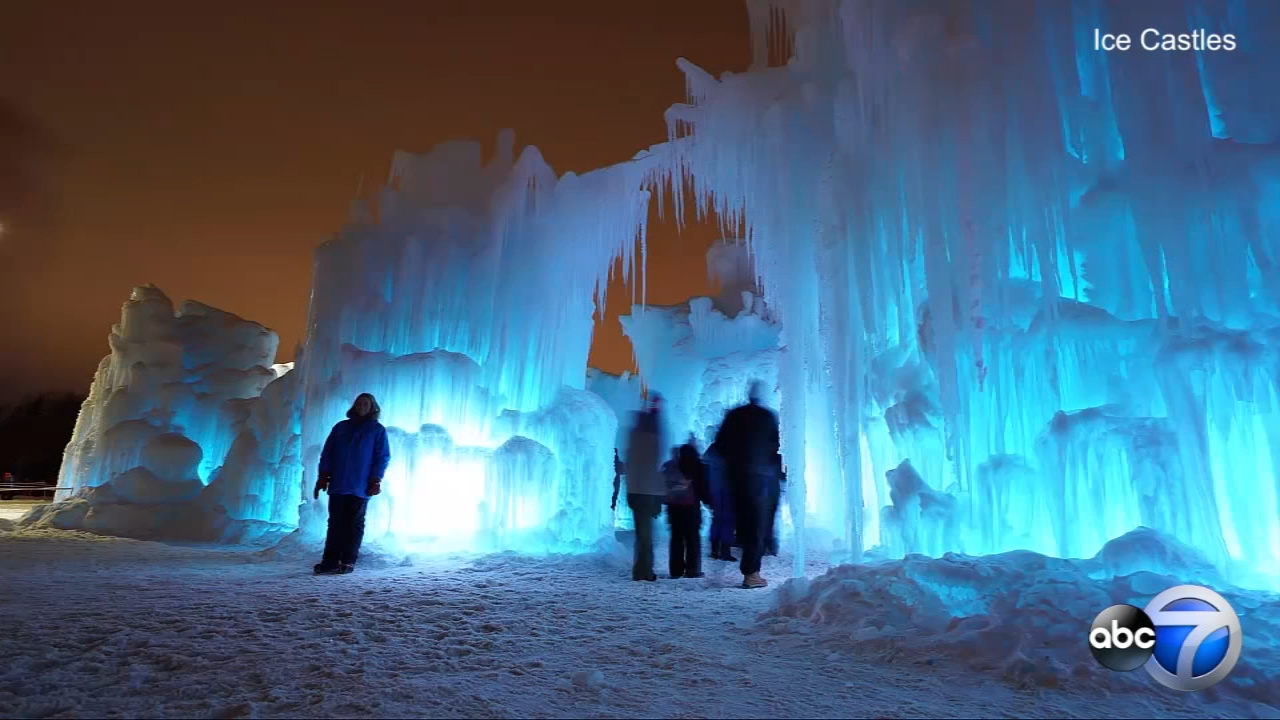 Ice Castles are transforming Lake Geneva, Wisconsin into a frozen fantasyland this winter.