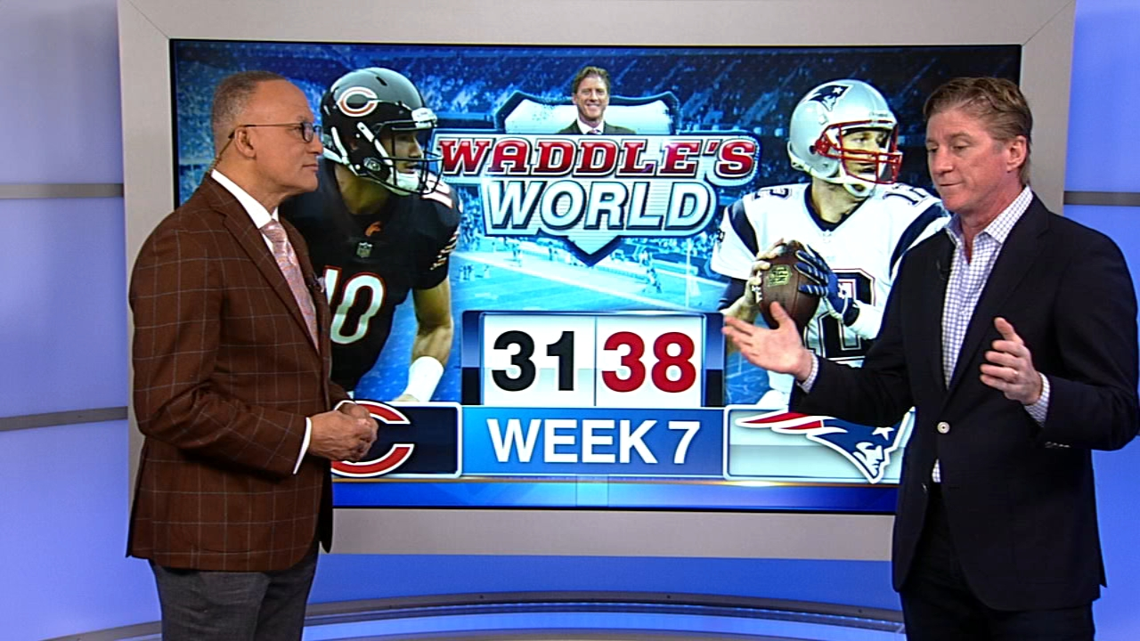 In this weeks Waddles World, ABC7 sports reporter Jim Rose and former Chicago Bears player Tom Waddle talked about Sundays Chicago Bears 38-31 loss to the New England Patriot