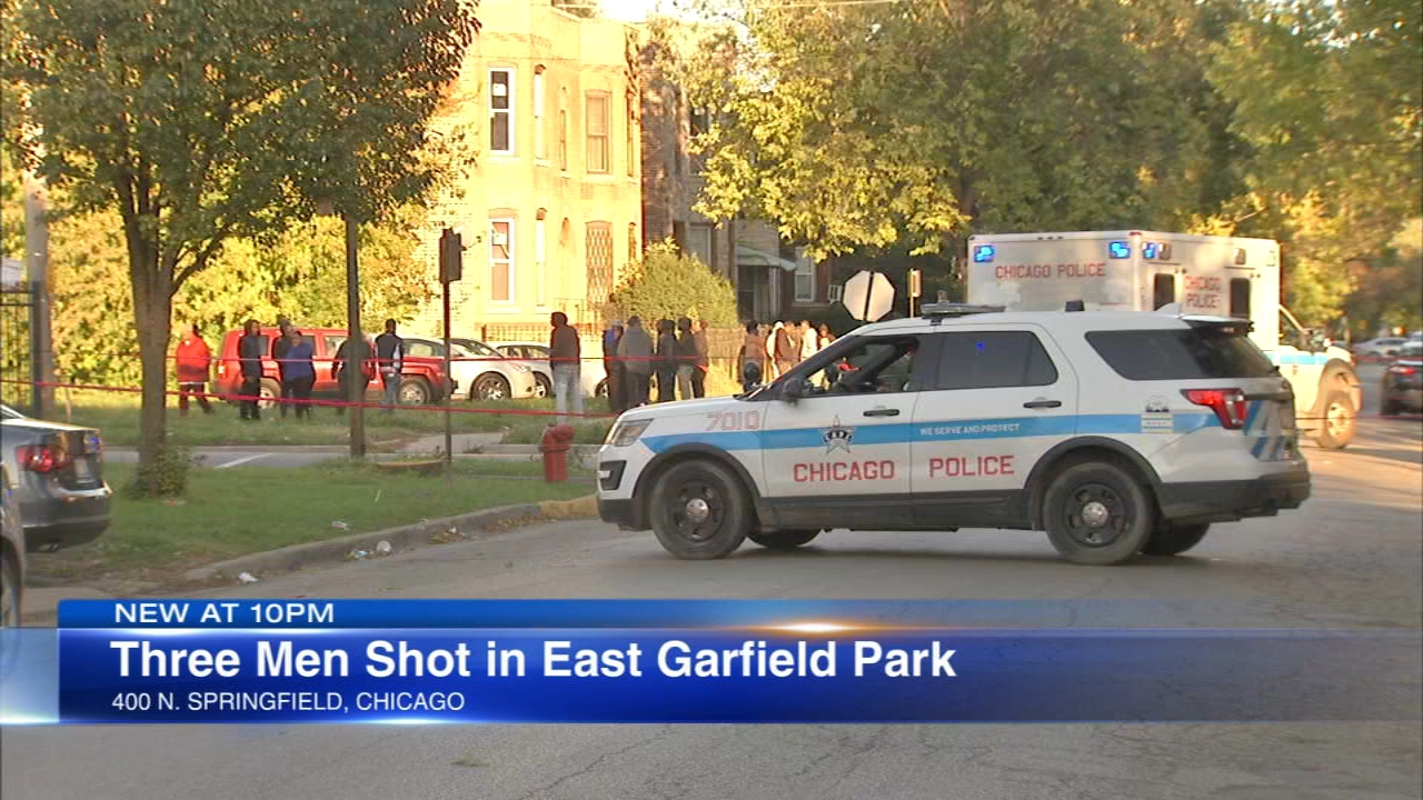 Three men shot in Chicagos East Garfield Park were among 22 people shot in the city this weekend.