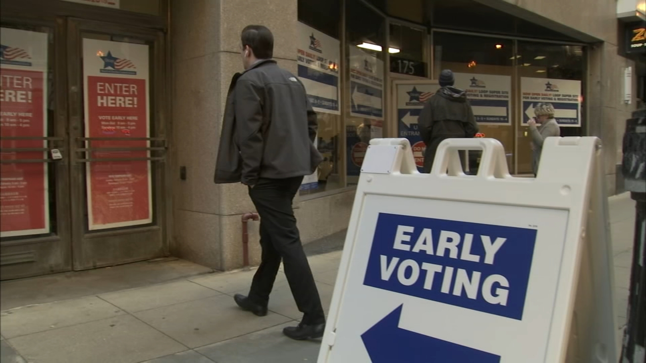 Early voting locations in the Chicago area greatly expanded Monday, with hundreds of polling places opening in all 50 of the citys wards as well as the collar counties.