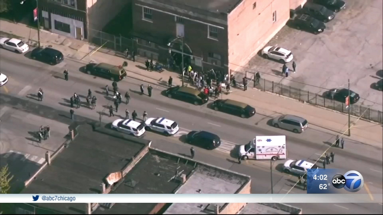 Six people were shot at a funeral or memorial service in Burnside on Monday.
