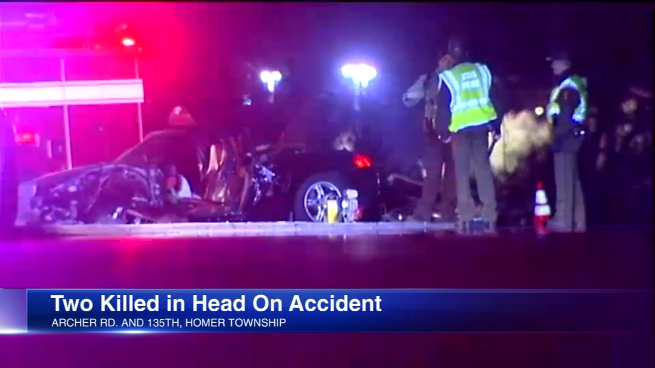 Two people were killed in a crash in unincorporated Homer Township Sunday night, Illinois State Police said.