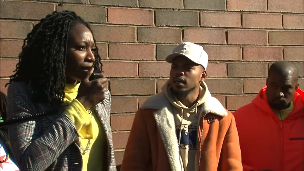 Politics and pop culture met at the corner of 63rd Street and Cottage Grove Avenue on Tuesday as Chicago mayoral candidate Amara Enyia hosted a campaign event.