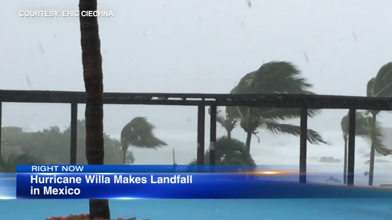 Conditions on Mexicos Pacific coast worsened Tuesday as a Category 3 hurricane made landfall.