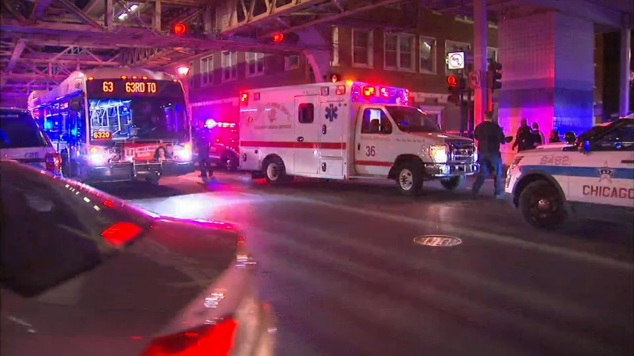 Five men were wounded in a shooting near a CTA Green Line station on the South Side Wednesday night, Chicago police said.