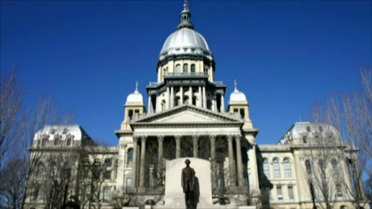 The Illinois state capitol building in Springfield was placed on a brief lockdown Thursday afternoon after an unknown substance was discovered in a restroom.