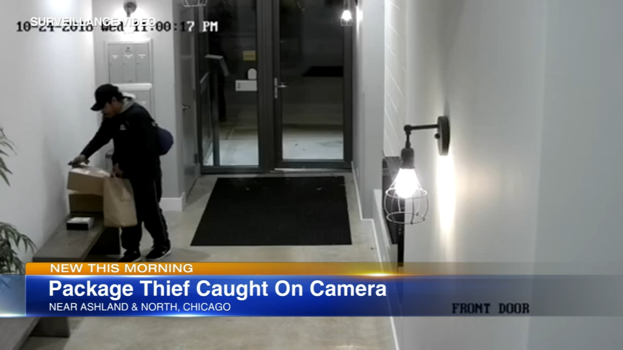 A package theif was caught on video Wednesday night.