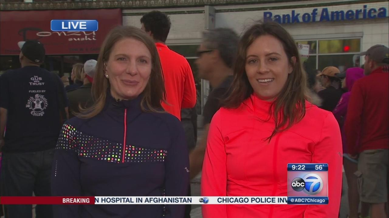 13 first-time marathoners train