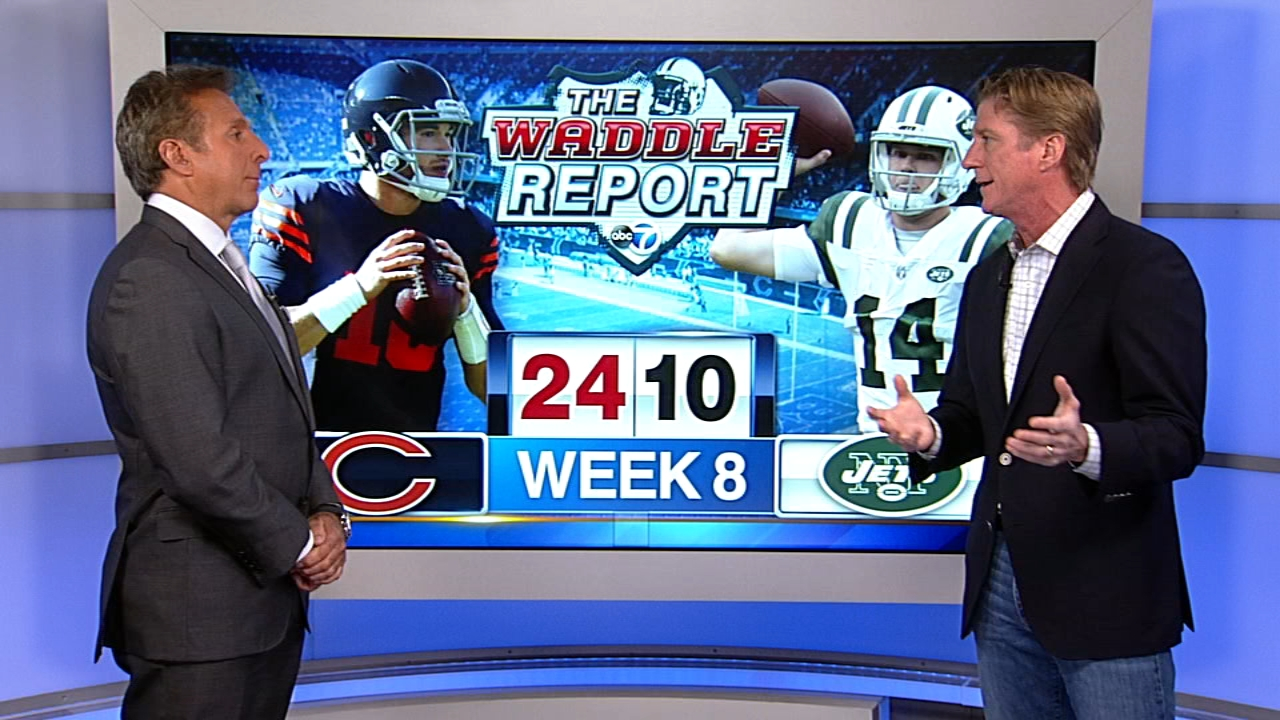 In this weeks Waddles World, ABC7 sports reporter Mark Giangreco and former Chicago Bears player Tom Waddle talked about Sundays Chicago Bears 24-10 win over the New York Jet