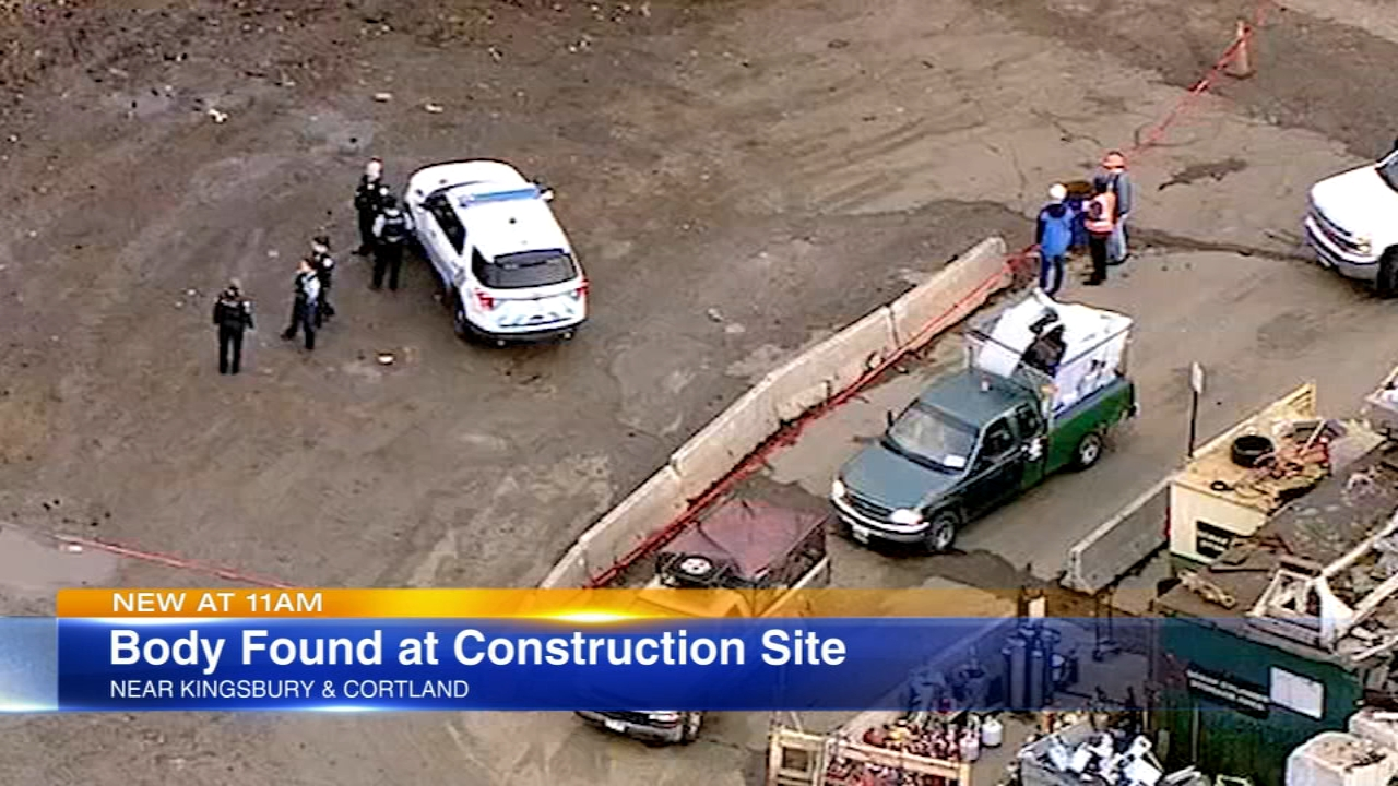 A body was found Monday morning at a construction site just west of Lincoln Park.