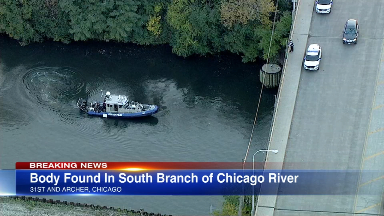 The body of a 55-year-old man was pulled Monday evening from the Chicago River's South Branch.
