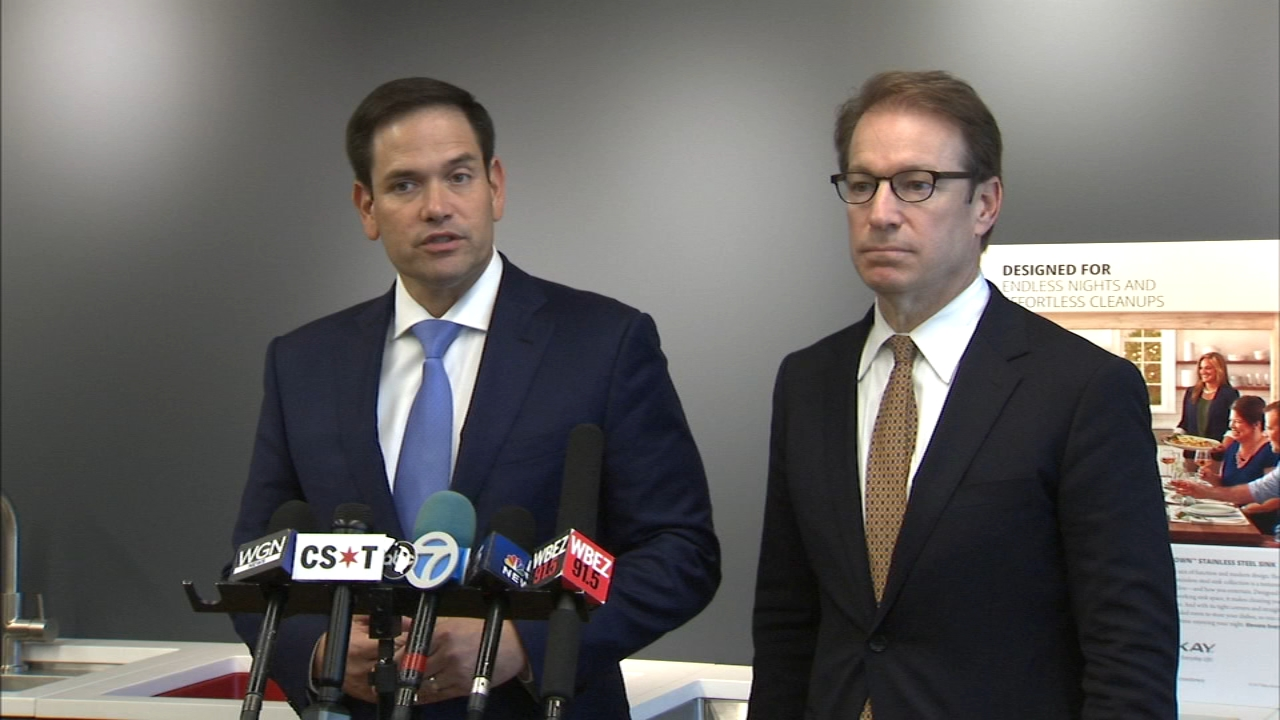 U.S. Sen. Marco Rubio, R-Florida, was in Oak Brook to fundraise for six-term Congressman Peter Roskam, who is being challenged by Democract Sean Casten.
