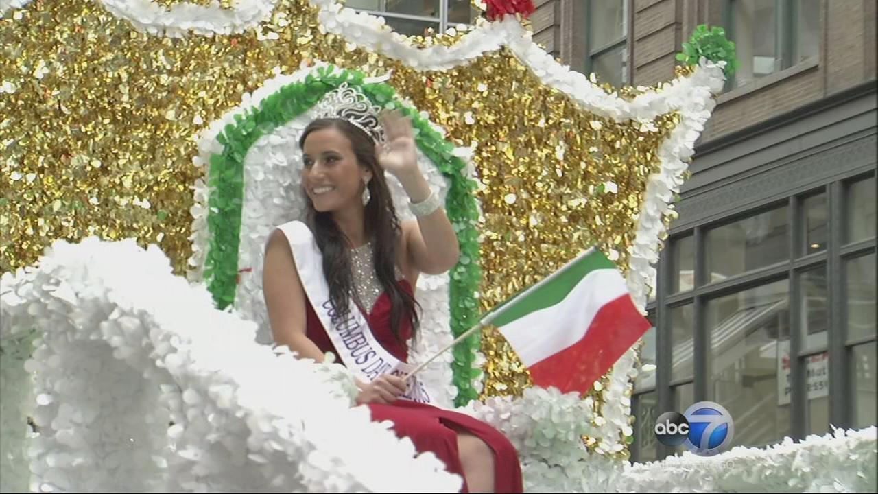 video chicago columbus day parade part 3 abc7chicagocom