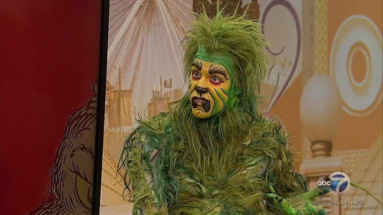 The Grinch stopped by the show to talk about his upcoming musical Dr. Seuss The Grinch That Stole Christmas playing at The Chicago Theatre Nov. 18-25.