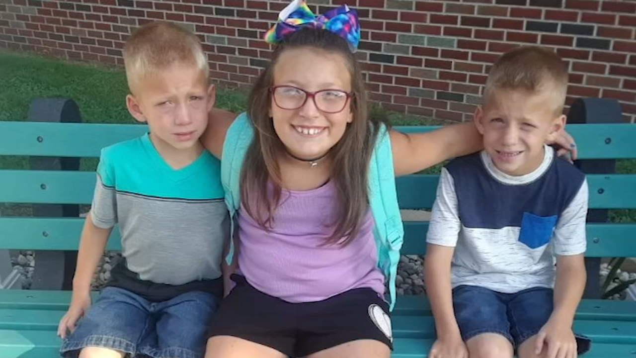 Three siblings were struck and killed and another child was injured at a school bus stop in Indiana Tuesday morning, Indiana State Police said.