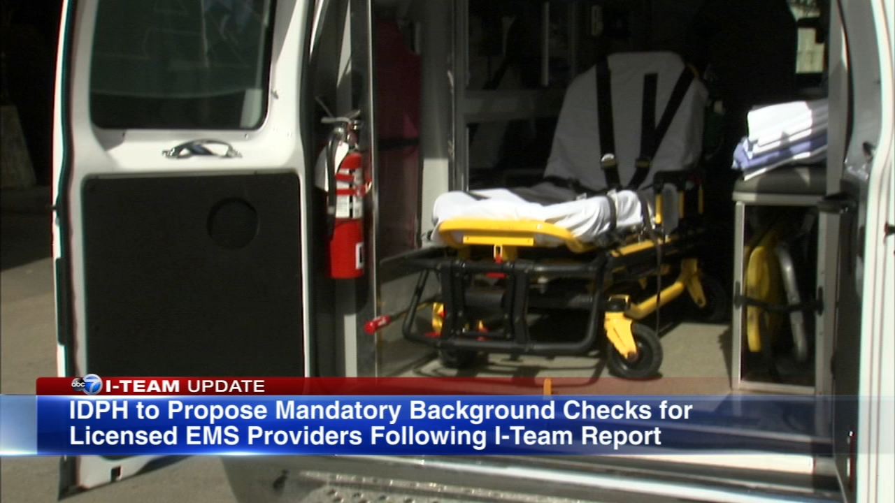 The Illinois Department of Public Health has issued a memo to emergency medical groups following an ABC7 I-Team report reminding ambulance workers that they are required to report