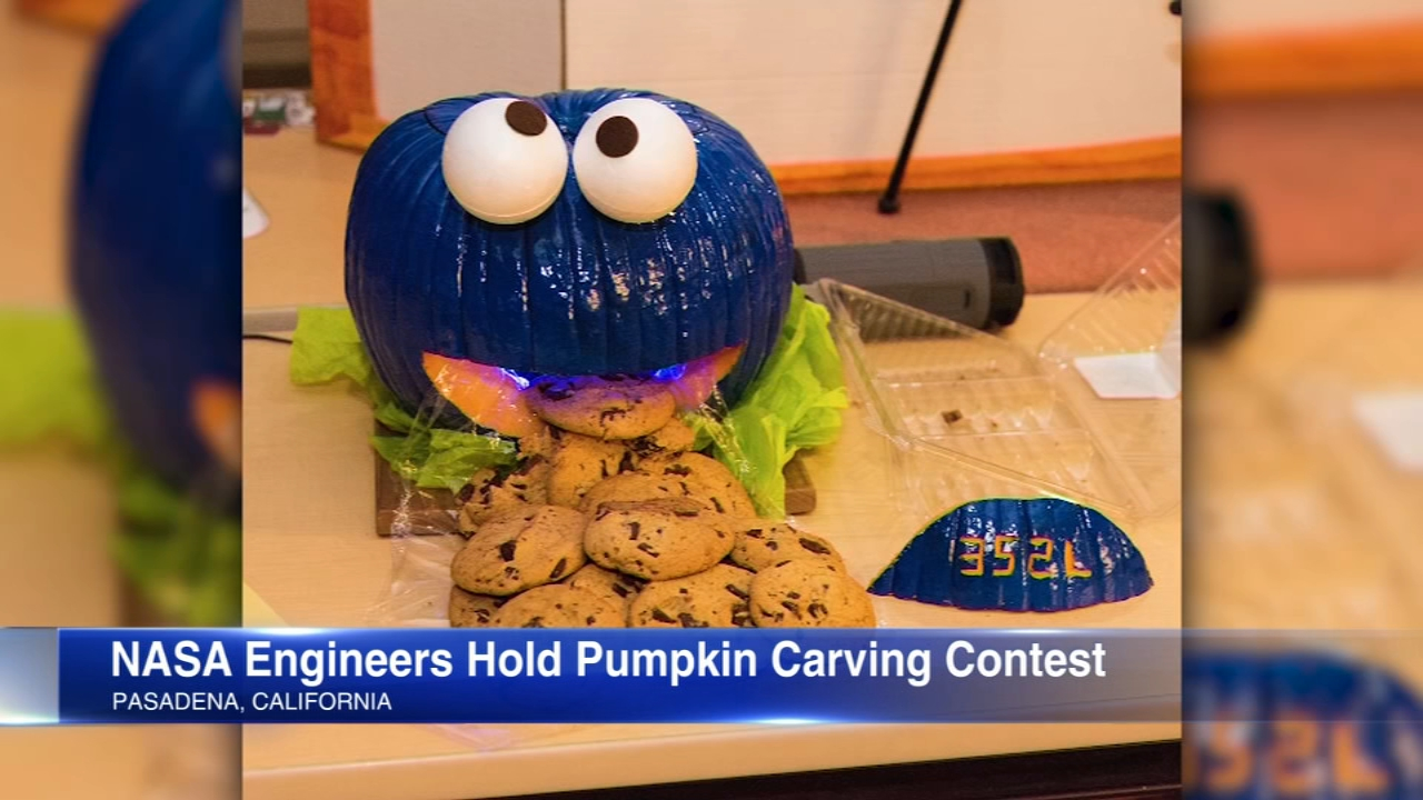 NASA engineers held a pumpkin-carving contest.