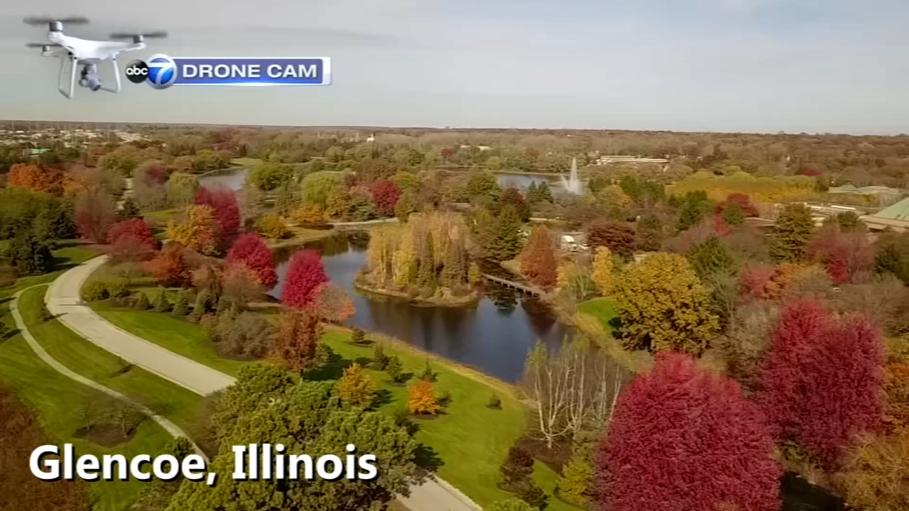 The ABC7 Drone Cam captured fall colors as they approach their peak across the Chicago area.