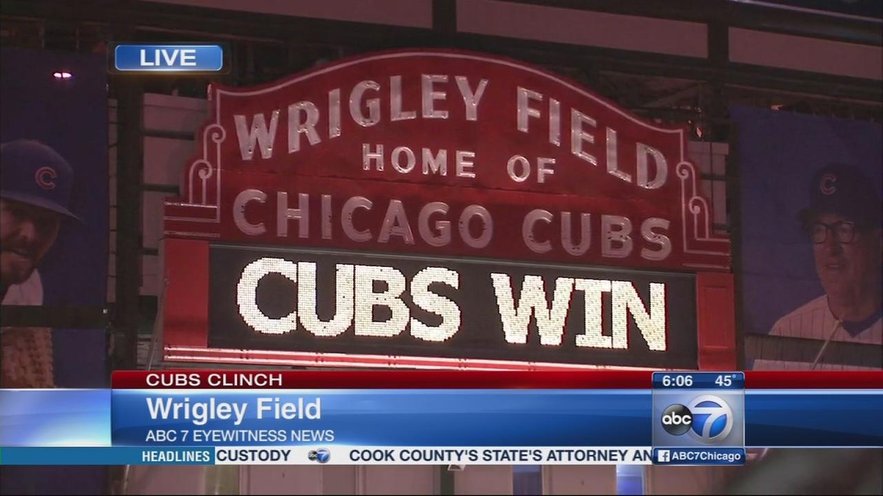 Cubs clinch at Wrigley
