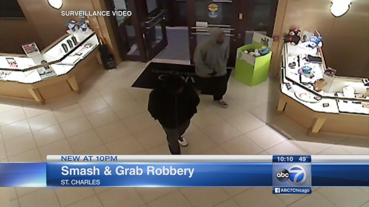 Smash and grab in St. Charles