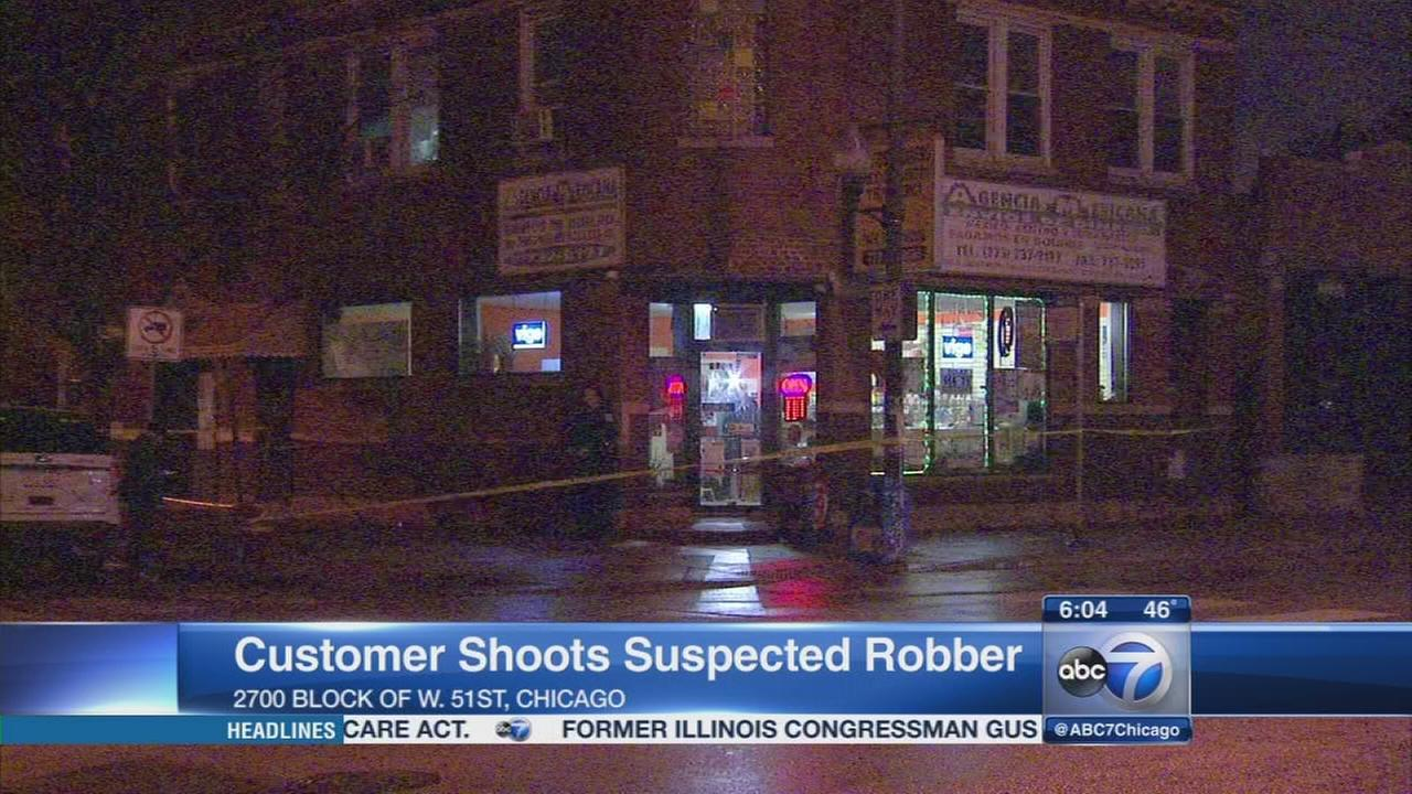 Customer shoots suspected robber