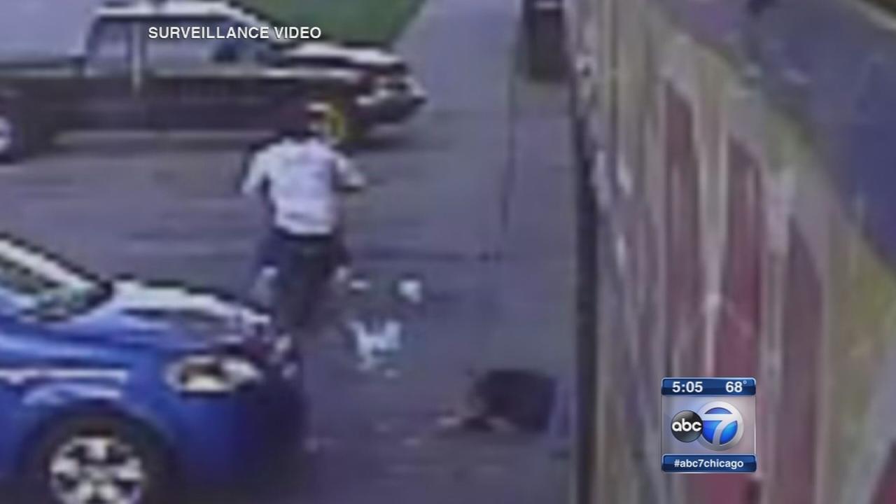 Video: Woman struck by motorbike
