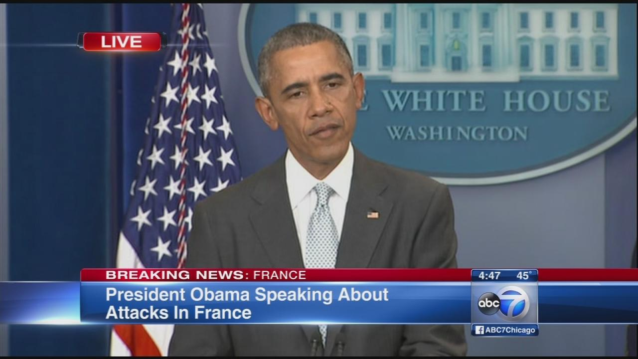 President Obama on Paris attacks