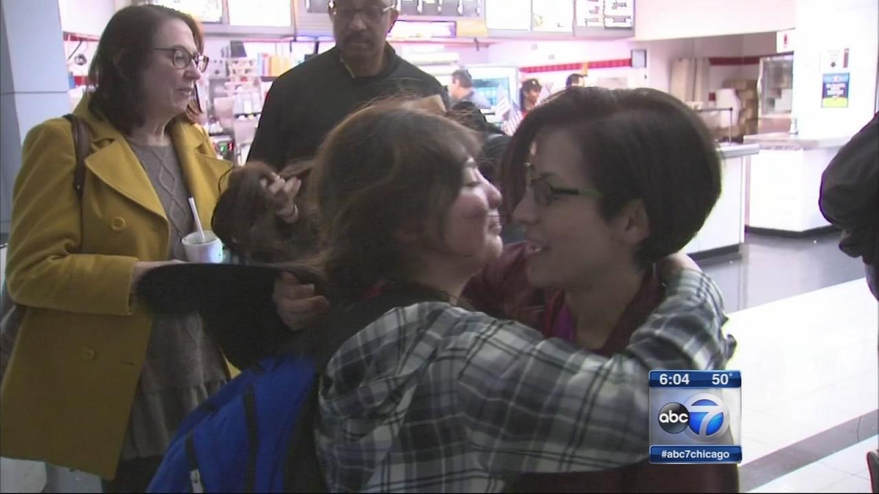 Chicago students on Paris trip return home