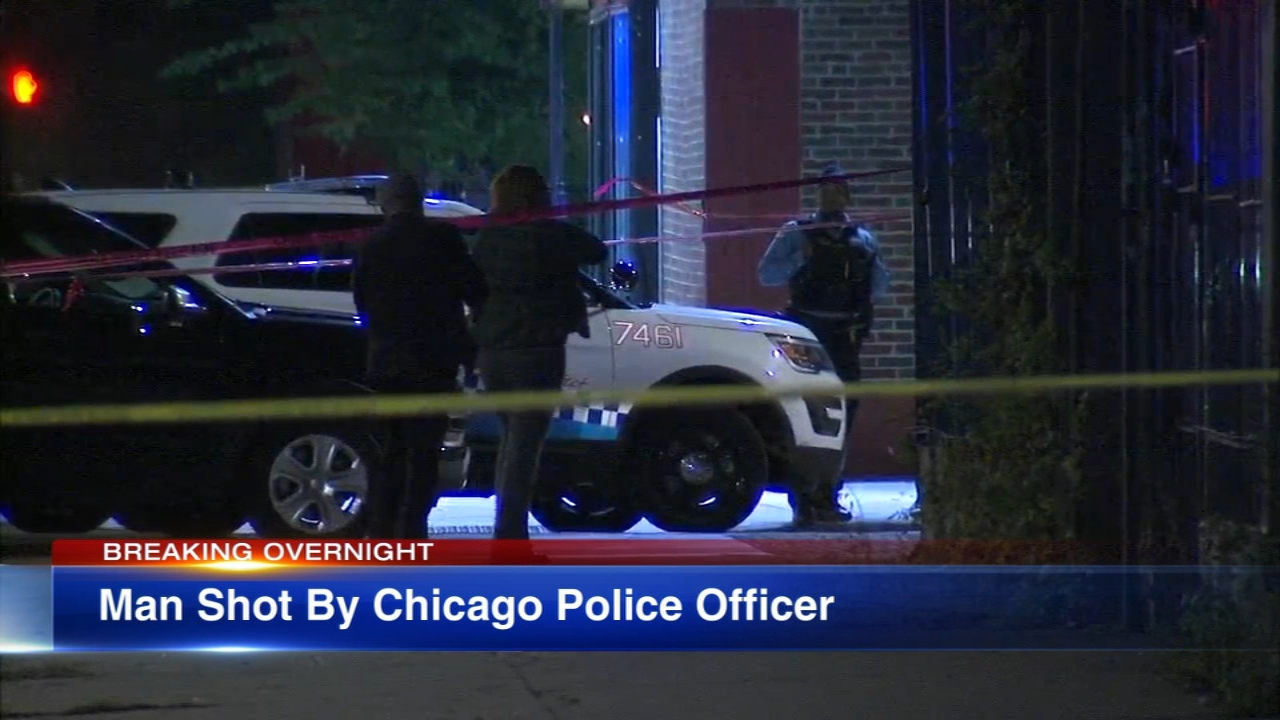 A police-involved shooting that left a man wounded in the neck on the South Side Wednesday night is under investigation.
