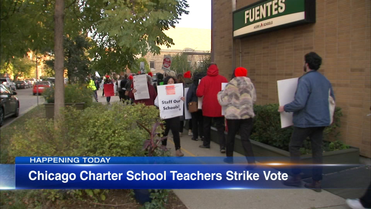 Days after teachers at one Chicago charter school voted to authorize a strike, several more could follow Friday.