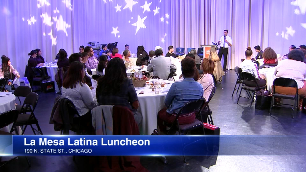 Latino high school students meet with Latino professionals to learn how to become effective leaders in their communities.